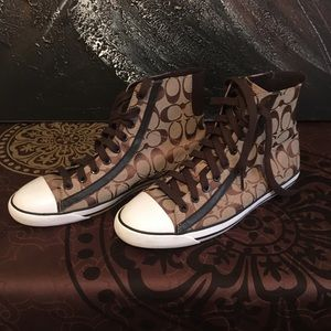 WOMENS COACH CONVERSE STYLE SNEAKERS